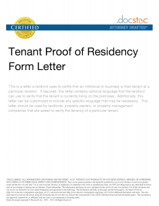 letter to landloard proof of residency letter sample proof of residency letter tenant proof of residency form letter within travel agent in houston for india awesome