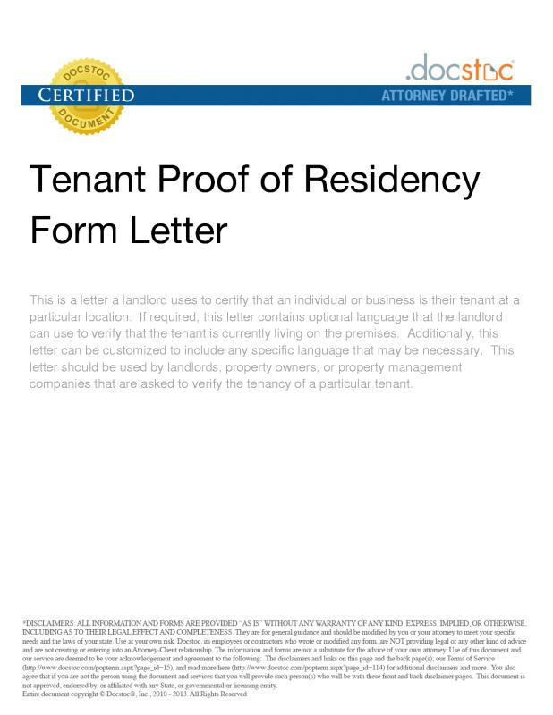 letter to landloard