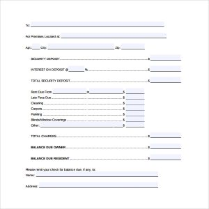 letter to lanlord free download rental deposit form