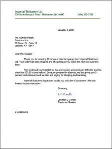 letter writing format letter format