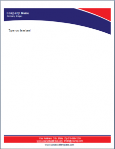 letterhead template word business letterhead