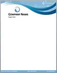 letterhead template word company letterhead template