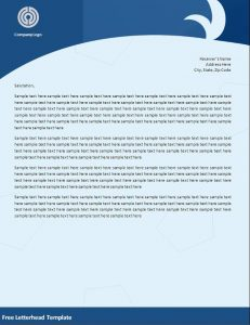 letterhead template word free letterhead template your own word doc