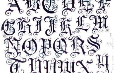 lettering font tattoo font tattoo