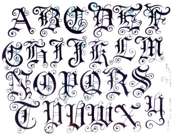 lettering font tattoo
