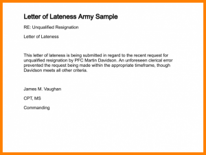 letters for donation explanation letter for being late