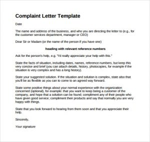 letters of complaint samples collection of solutions format of complaint letter to bank manager for letter
