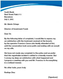 letters of complaint samples complaint letter template