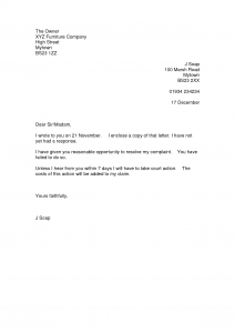 letters of complaint samples complaint letter template rvtfxzx