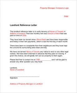 letters of complaints samples landlord reference letter for tenant