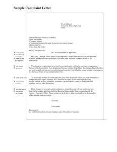letters of complaints samples sample complaint letter