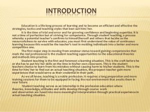 letters of introduction for teachers my practice teaching e narrative presentation