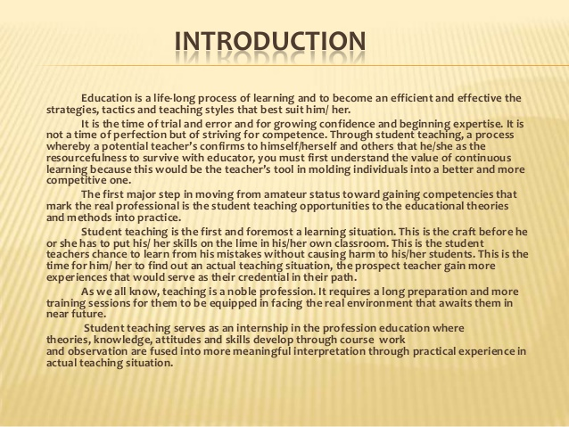 letters of introduction for teachers
