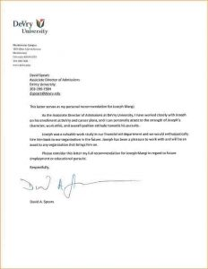 letters of recommendation for college letter of recommendation college student a
