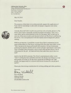 letters of recommendation for friends dave waddell letter of rec