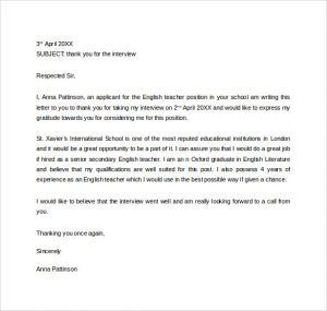 letters of recommendation for friends thank you interview letter to teacher
