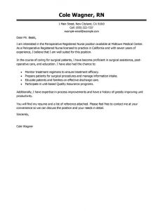 letters of recommendation for grad school clperioperative nurse healthcare