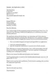 letters of recommendation for grad school sample job application letter