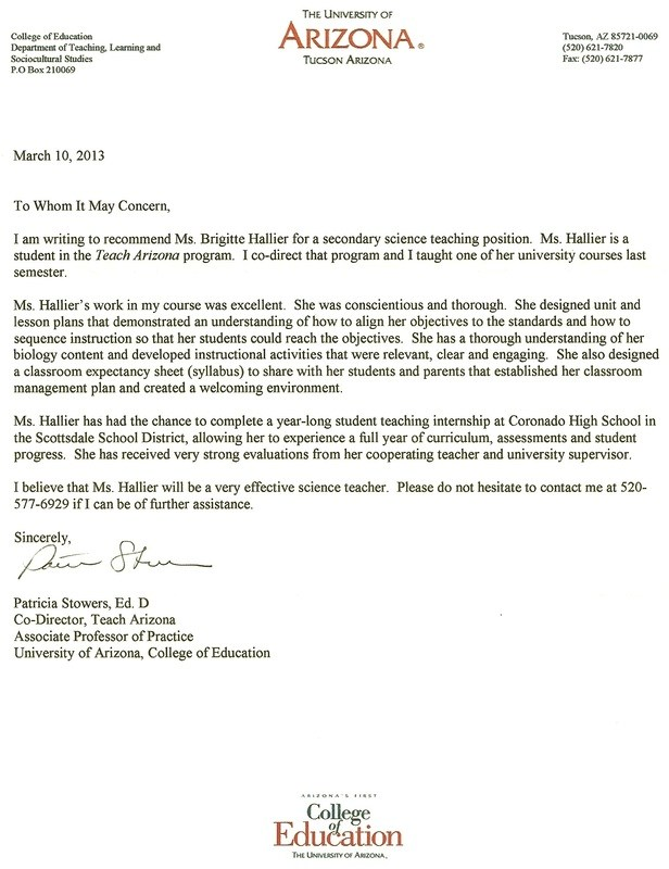 letters of recommendation for graduate school