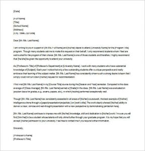 letters of recommendation for graduate school editable letter of recommendation for graduate school download