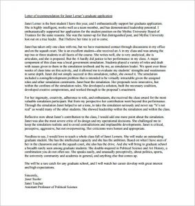 letters of recommendation for graduate school how to write a letter of recommendation for graduate school