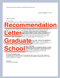 letters of recommendation for graduate school recommendation letter graduate school