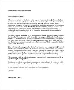 letters of recommendation for scholarships faculty reference recommendation letter
