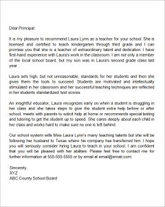 letters of recommendation for teachers recommendation letter for a teacher who is relocating