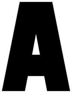 letters stencils to print printable alphabet letters a z printable banner letters with block letter a