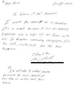 letters to landlords broke landlord