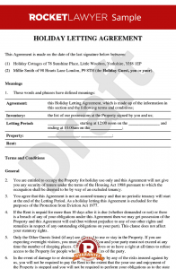 letters to landlords holiday letting agreement