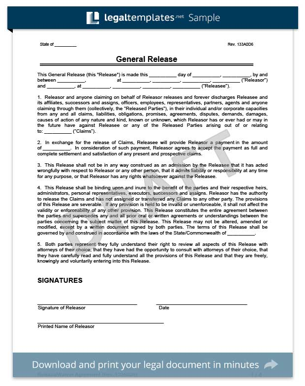 liability release forms template