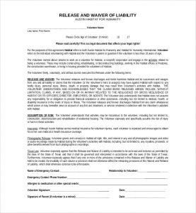 liability release form liability release form texas