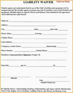 liability release form liability waiver template liability release waiver form template 611040