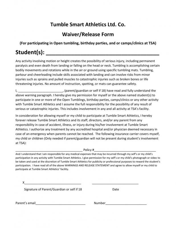 liability waiver form pdf