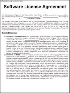 licensing agreement sample software license agreement template