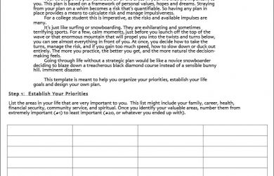 life plan template strategic life plan template