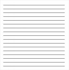 Lined Paper Template Lined Paper For Kids  Lined Chart Paper