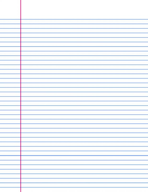 Lined Paper Template  Lined Paper Printables