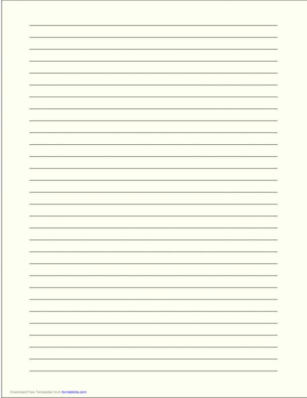 Lined Paper Template Pdf  Template Business