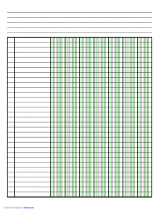 lined paper template pdf blank columnar paper with five columns on letter sized paper in landscape orientation d