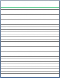 lined paper to print lined paper