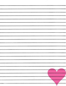 lined paper to print lined paper you can print love