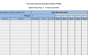 liquor inventory spreadsheet food input sheet