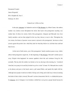 literary essay example english sl world literature essay