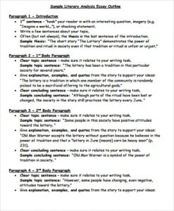 literary essay example literary essay analysis outline example