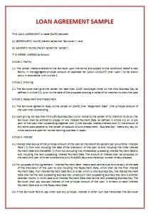 Loan Agreement Template 5 Loan Agreement Templates To Write Perfect  Agreements Regarding Loan Contract Template  Loan Templates