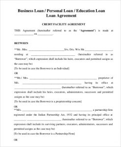 loan agreement template business loan agreement