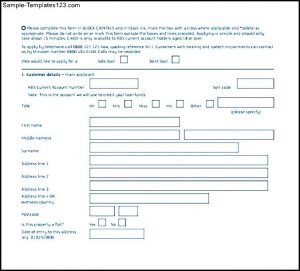 loan application format personal loan application form