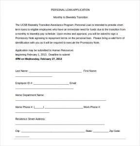 loan application format personal loan application form word document free download